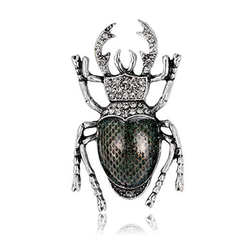 Haptian Käfer Brosche Vintage Kleidung Rucksack Pins Insekt Corsage Badge Icons(Grün-1Stück)