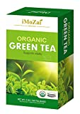 Imozai Organic Green Tea Bags 100 Count Individually Wrapped