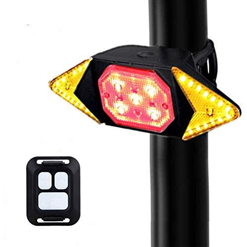 Ettzlo Fahrradrücklicht mit kabelloser Fernbedienung, wasserdicht, USB-Ladekabel, LED, Blinker, Mountainbike, Auto-Rücklicht, Fahrrad, intelligentes Warnlicht