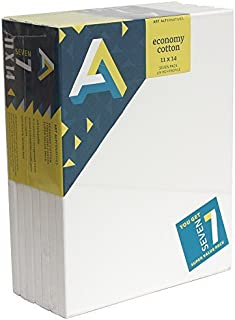 Art Alternatives stretched White Canvas Super Value Pack-11 x 14 inches-Pack of 7
