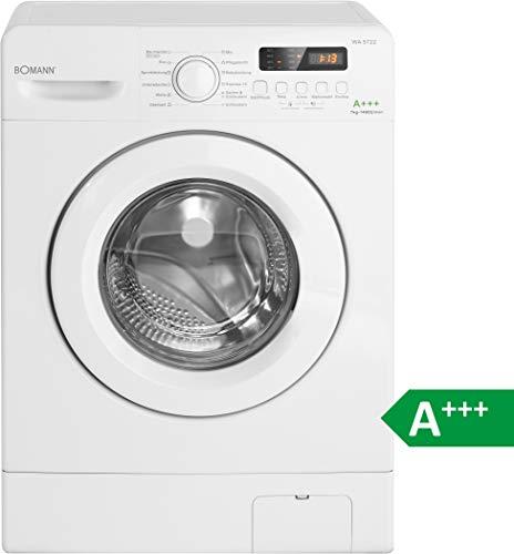 Bomann WA 5722 Waschmaschine Frontlader / EEK A+++ / 7 kg / 12 Waschprogramme plus Zusatzprogramm / 1400 UpM / LED Display / Schaumregulierung