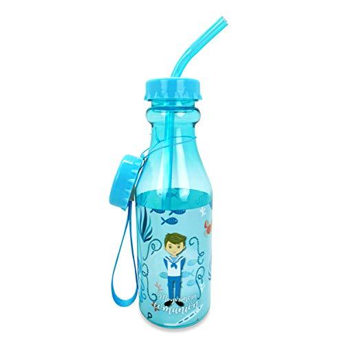 DISOK - Botella PVC Comunión Niño 500 ML. Recuerdos para niños en las comuniones. Detalles originales comunión. Regalos niños comuniones (1)