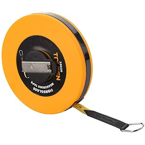 Cablematic - Cinta métrica de fibra de vidrio enrollada de 30m x 12.5mm de herramientas Tolsen