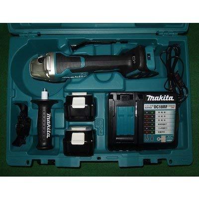 マキタ GA418DRGX 18V-100mm 無線連動対応充電式ディスクグラインダ パドルスイッチ+ブレーキ付 6.0Ahバッテリ2個付セット