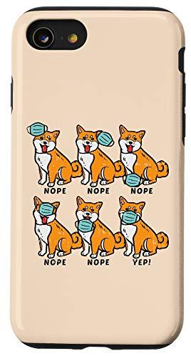 iPhone SE (2020) / 7 / 8 Shiba Inu Dog Face Mask Cute Social Distancing Quarantine Case