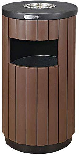Vuilniscontainer vuilnisemmer buitenafvalcontainer met asbak boven open in kast metaal industriële afvalcontainer buitenvuilnisemmer (kleur: B) A