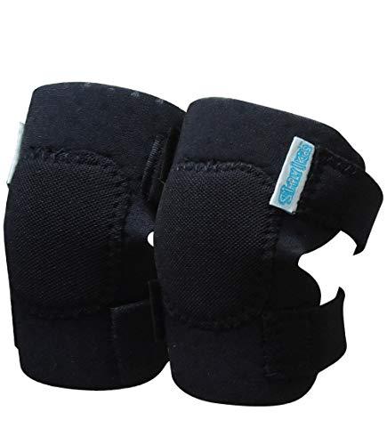 Simply Kids pads rodilla del bebé para el rastreo (2 pares) | protector para el niño, niño, niña, niño (negro)