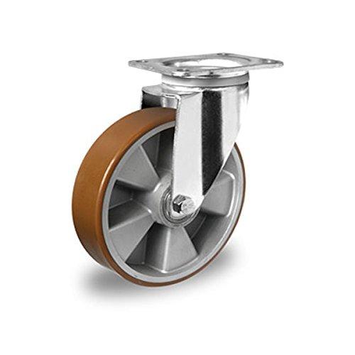 Schwerlast Lenkrolle 125 mm Polyurethan Alu Radkörper