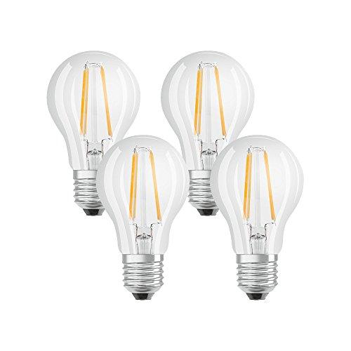 Osram Lampadine LED tutto vetro a filamento E27, =60W, luce calda, 4 Unità, standard