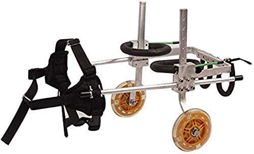 Carro para cochecito para mascotas, silla de ruedas para perros para patas traseras, asiento de coche para mascotas, patineta para caminar, patinete para perros, con extremidades traseras asistidas, e