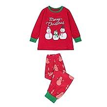 KMKM Conjunto de pijama de Navidad para familias, con tops y pantalones, pelele para Año Nuevo, dos piezas para padre, madre, niños, Rot_b3, S