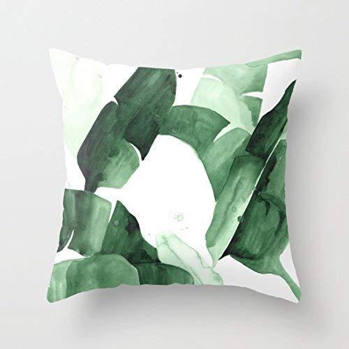 yting Taie d'oreiller pour Housse de Coussin décorative Palm Tree extérieur Cush Green Thow Taie d'oreiller 18\