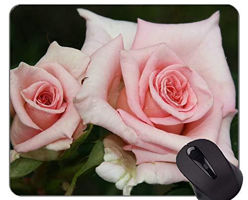 Yanteng Gaming Mouse Pad Custom, Gorgeous Nature Rose - Bordes cosidos