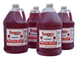 Snappy Cherry Sno Cone Syrup, 1 Gallon, 4 Pack
