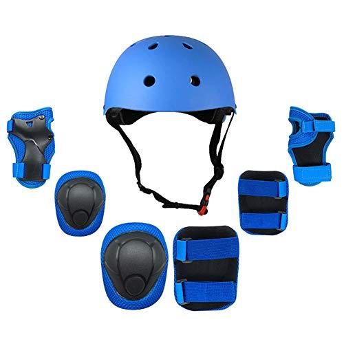 WEZER OTY Fahrradhelm mit licht für Kinder - und Jugendliche | Größe 48-54 I Ansprechender Kinder-Fahrradhelm für Jungs und Mädchen,B. Blue