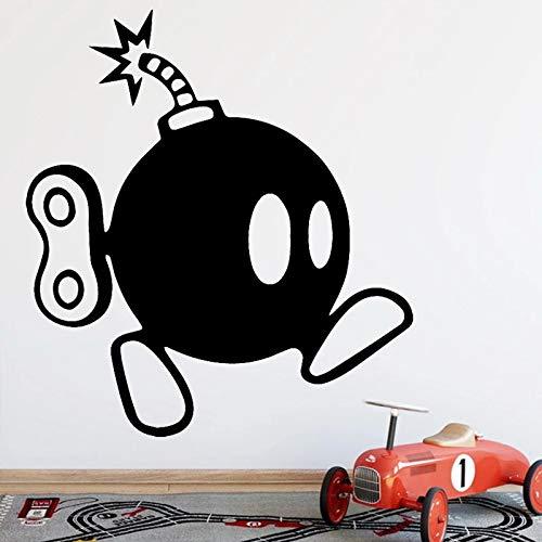 Etiqueta engomada creativa de la pared del papel de la sala de estar de la pintura de la moda de la decoración divertida de la bomba