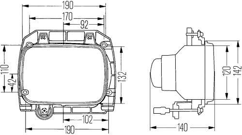HELLA-Halogen-Scheinwerfereinsatz-Hauptscheinwerfer