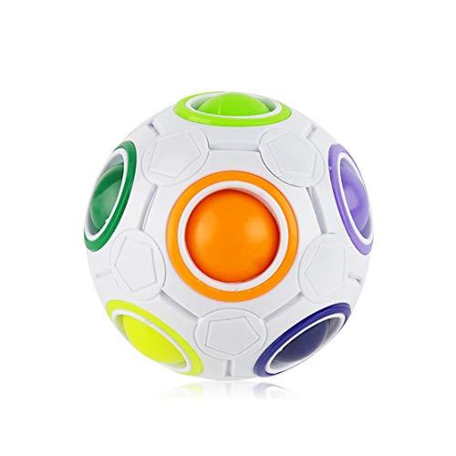 MTGYF Intelligenz Kinderspielzeug Puzzle Dekompression Zauberwürfel Kreative Fingermagie Regenbogenfans Ihr Fußball-geformtes Plastikspielzeug, Einzelspieler
