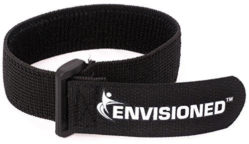 Elastic Reusable Cinch Straps 1'x12' - 10 Pack Hook and Loop - Plus 2 Free Bonus Reusable Cable Ties