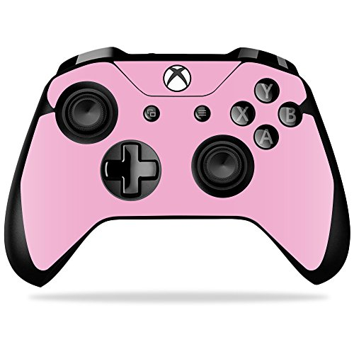 MightySkins Skin Compatible with Microsoft Xbox One X Controller - Solid Pink   Protective, Durable, and Unique Vinyl Decal wrap Cover   Easy to Apply, Remove, and Change Styles   Made in The USA