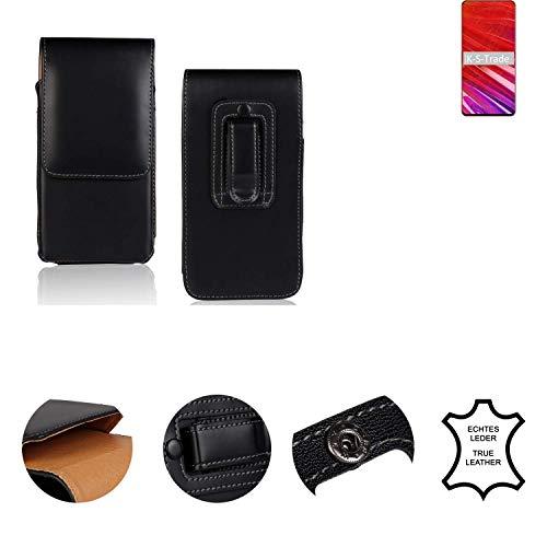 K-S-Trade® Holster Gürtel Tasche Für Lenovo Z5 Pro GT Handy Hülle Leder Schwarz, 1x