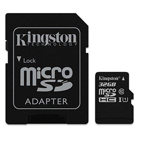 Kingston MicroSDHC-Speicherkarte für Asus Nexus Tablet, 32 GB, mit individueller Formatierung und Standard-SD-Adapter (Klasse 4)