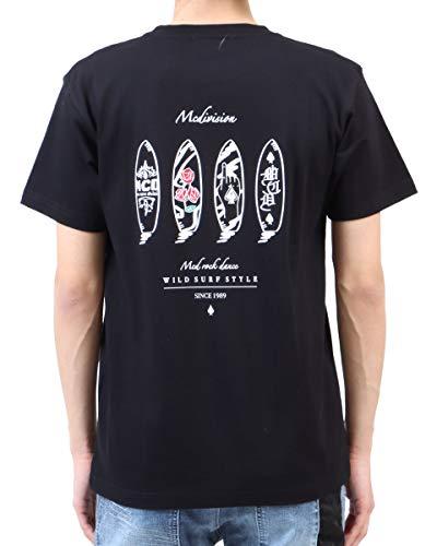 [エムシーディ] MCD Tシャツ JAPAN加工 DRAWING サーフボード Tee 212M1017 ブラック XL