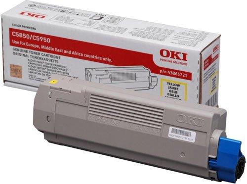 OKI 43865721 C5850, C5950 Tonerkartusche 6.000 Seiten, gelb