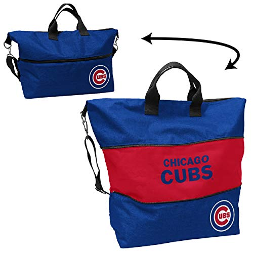 Logo Brands Chicago Cubs Crosshatch Expandable Tote (506-665-CR1)