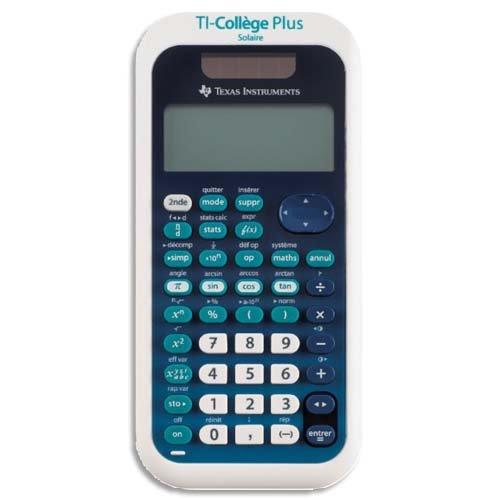 Texas Instruments TI College Plus - Calculadora científica (panel solar y batería), color azul y blanco
