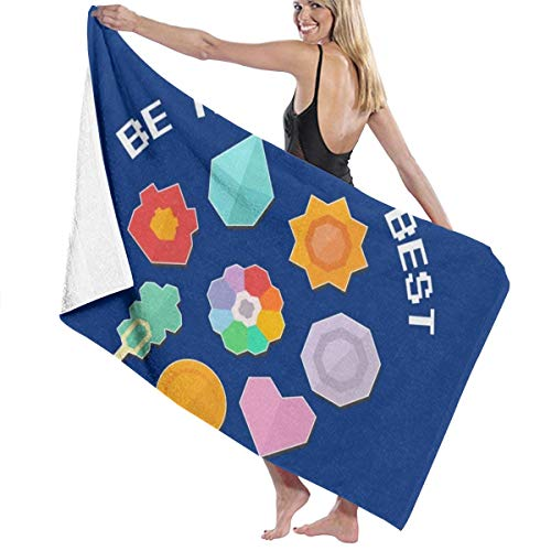 C-JOY Be The Very Best Retro Monster of The Pocket Bath Towel Five-Star Hotel Quality .Premium Collection Bathroom Towel.Soft,Plush and Highly Absorbent (1 Bath Towel 31x59 Inches)