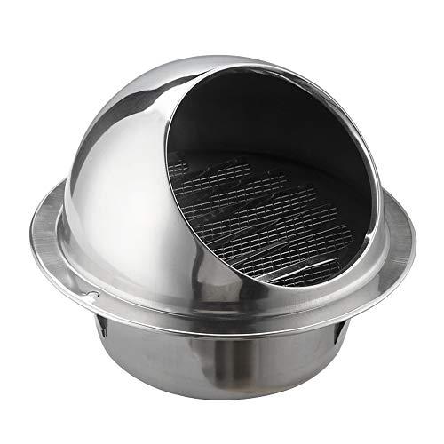 RtottiM Rejilla de ventilación redonda de acero inoxidable 304 de 150 mm de diámetro de ventilación para paredes de cocina y baño