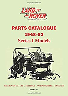 Land Rover Parts Catalog Series 1: 1948-53