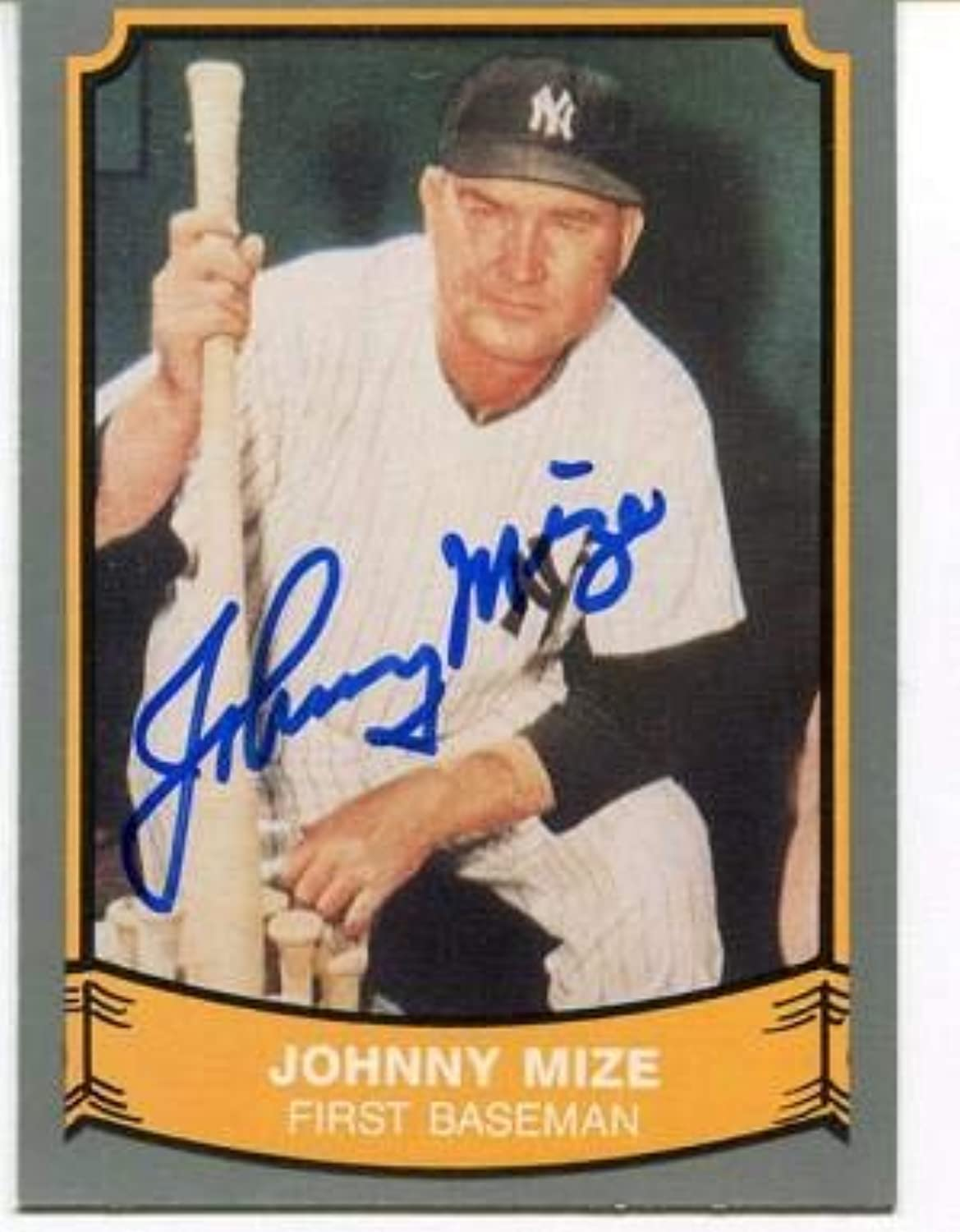 Johnny Mize Autographed Signed 1989 Pacific Card  Autographed Baseball Cards