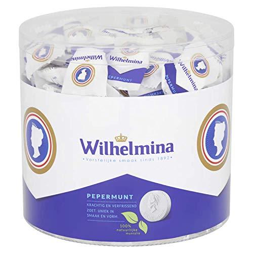Fortuin Wilhelmina Peppermunt Pastillen 950g, einzeln verpackt in Runddose (Pfefferminz)