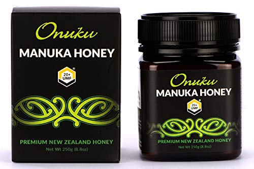 Onuku Premium New Zealand UMF 20+/MGO 830+ (250G) Authentic Manuka Honey   100% Pure Mineral Rich Properties Non GMO Unpasteurized Certified Delicious Honey