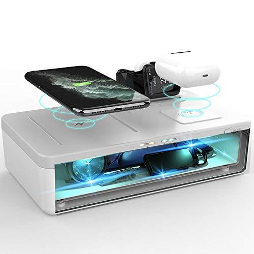 Uccide fino al 99.9/% di Virus e Batteri Occhiali HoMedics UV-Clean Sterilizzatore Portatile per Smartphone Grigio Disinfettante Ciuccio Chiavi