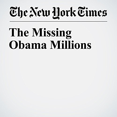 The Missing Obama Millions copertina