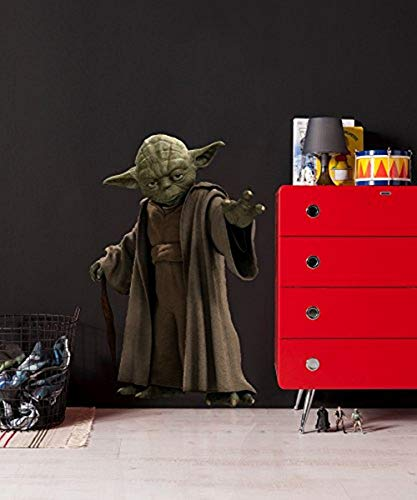 Komar 14721h Deco-Sticker Star Wars Yoda, grün/braun