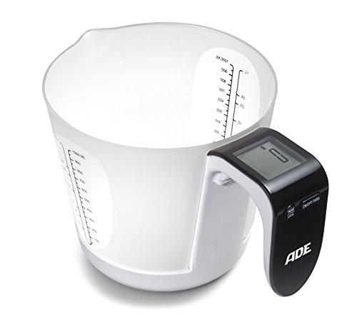ADE KE 919 Balance de Cuisine numérique Franca en Noir/Blanc, Non-Bâton, Multicolore, 30 cm