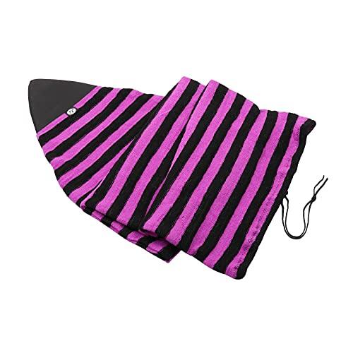 F Fityle Funda de calcetín para Tabla de Surf Bolsa Protectora de Tabla de Surf de Surf Ligera y elástica con Cierre de cordón y Protector de Nariz Acolchado y - Rojo, 7.6 pies
