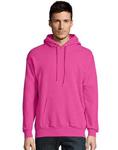 Hanes Mens EcoSmart Hooded Sweatshirt (P170) -Wow Pink -5XL