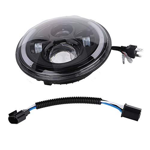 Phare de moto LED 150W 7 pouces Halo rond pour lumière avant étanche de moto