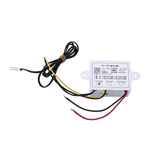 cersalt Interruptor de termostato, termostato Digital de Alta precisión, -50~110 ℃ Conveniente para el Sistema de Aire Acondicionado de la Caja del Equipo