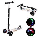 Kinder Roller Scooter 3 Räder Höhenverstellbarer Kinderroller mit LED Leuchträdern Rollen und Verstellbare Lenker für Kleinkinder, Mädchen oder Jungen ab 3 Jahren (Farbe 3)
