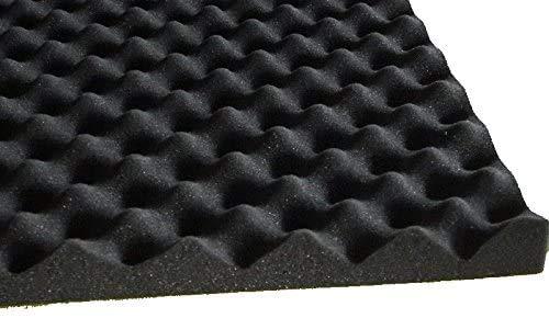 Akustikschaumstoff als Akustik Noppenschaumstoff -SELBSTKLEBEND- Platte 200x100x3cm (anth/schwarz) aus hochwertigem PUR-Schaumstoff