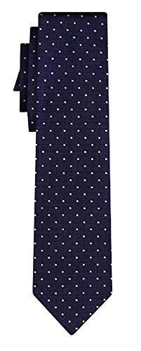 BOSS Seidenkrawatte dots pattern navy