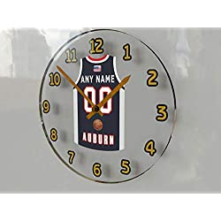 FanPlastic College Basketball USA - We're Number ONE College Hoops Wall Clocks - Support Your Team !!! (Auburn Tigers)