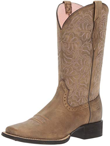 Ariat Women's Round up Remuda Western Cowboy Boot, Brown Bomber, 9 B US