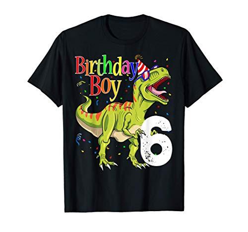 Niños 6to cumpleaños dinosaurio camisetas Rawr I'm 6 Camiseta